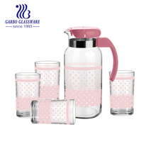 highball drinkware 7pcs diamond glass jug set