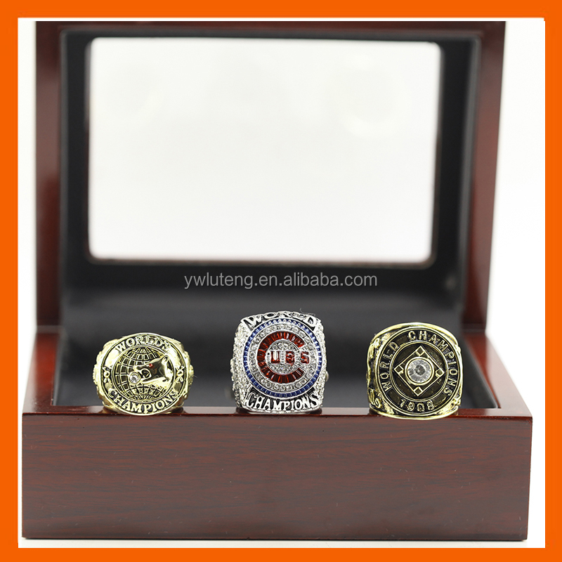 LT JEWELRY 1907 1908 2016(BRYANT EDITON) CHICAGO CUBS BASEBALL WORLD SERIES CHAMPIONSHIP RING, 3PC RINGS AS A SET WITH BOX