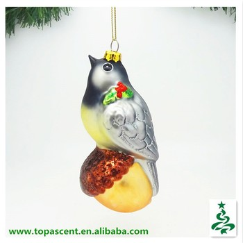 2015 vivid hand blown glass bird christmas ornaments from direct factory in china - Bird Christmas Ornaments
