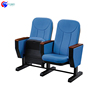 Factory manufacturing folding auditorium seat with writing pad