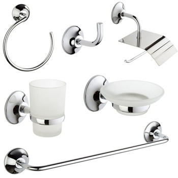 new design zinc chrome bathroom accessory set 9200