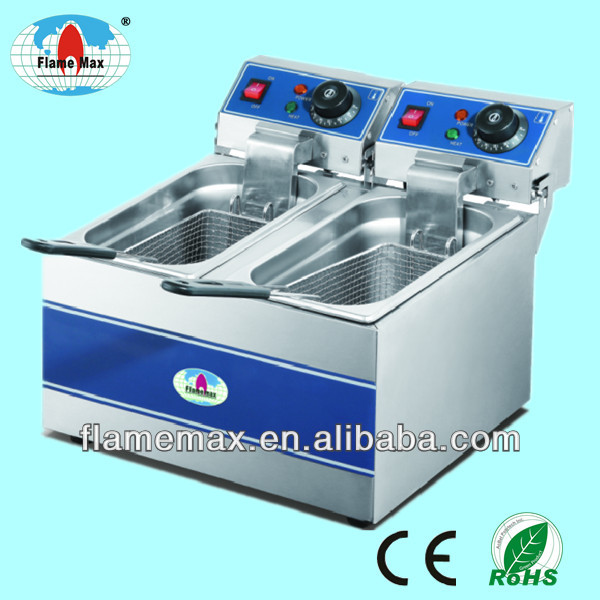 commercial double tanks stainless steel Electric Deep Fryer