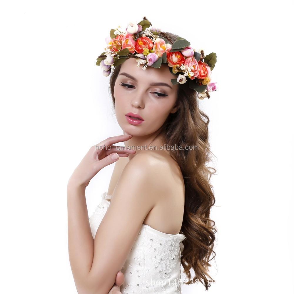 Ladies Elegant Bulk Nautical Artificial Wedding Garland Flower Crown