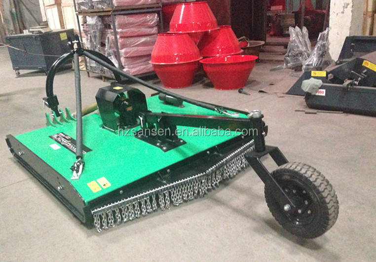 heavy duty tractor 3-point hitch rotary slasher mower with pto shaft driven, small hobby farm grass cutter
