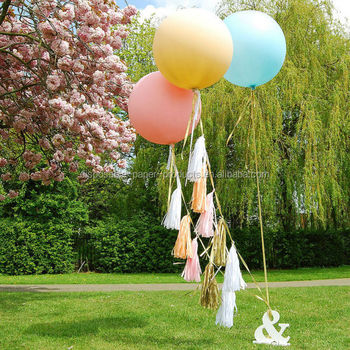 New Party Decoration Ideas Giant Round Telled Helium Balloon Jumbo With Tels Tails