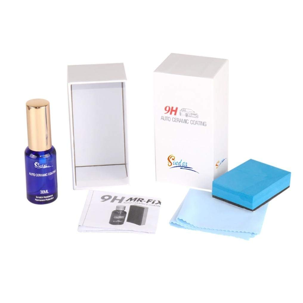 SUEKQ Windshield Glass Liquid Ceramic Coat 9H Car Ceramic Coating Kit Super Hydrophobic Glass Coating Cleaning 30ML