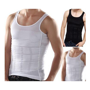 Body Shaper Men Slimming Undershirts Elastic Sculpting Vest Abdomen Slim Tummy Waist Compression Girdle Tank Top Shirt NCS082