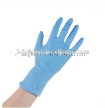 latex blue color diposable glove