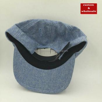 Mixed Wholes custom wool flannel blank plain unstructured six panel polo  baseball hats strapback cap and 4f87cbf50e3