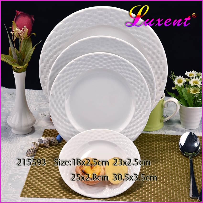 Wholesale Chaozhou Ceramic Dinner Plates For Restaurants