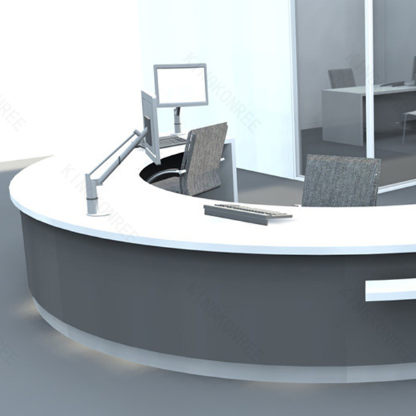 Hot Modern Small Semi Circle Reception Desk Half Round Product On Alibaba