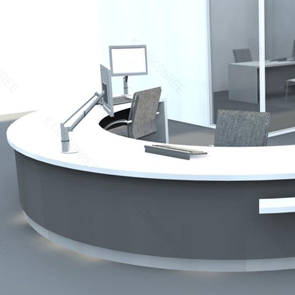 Hot Modern Small Semi Circle Reception Desk Half Round Product On Alibaba