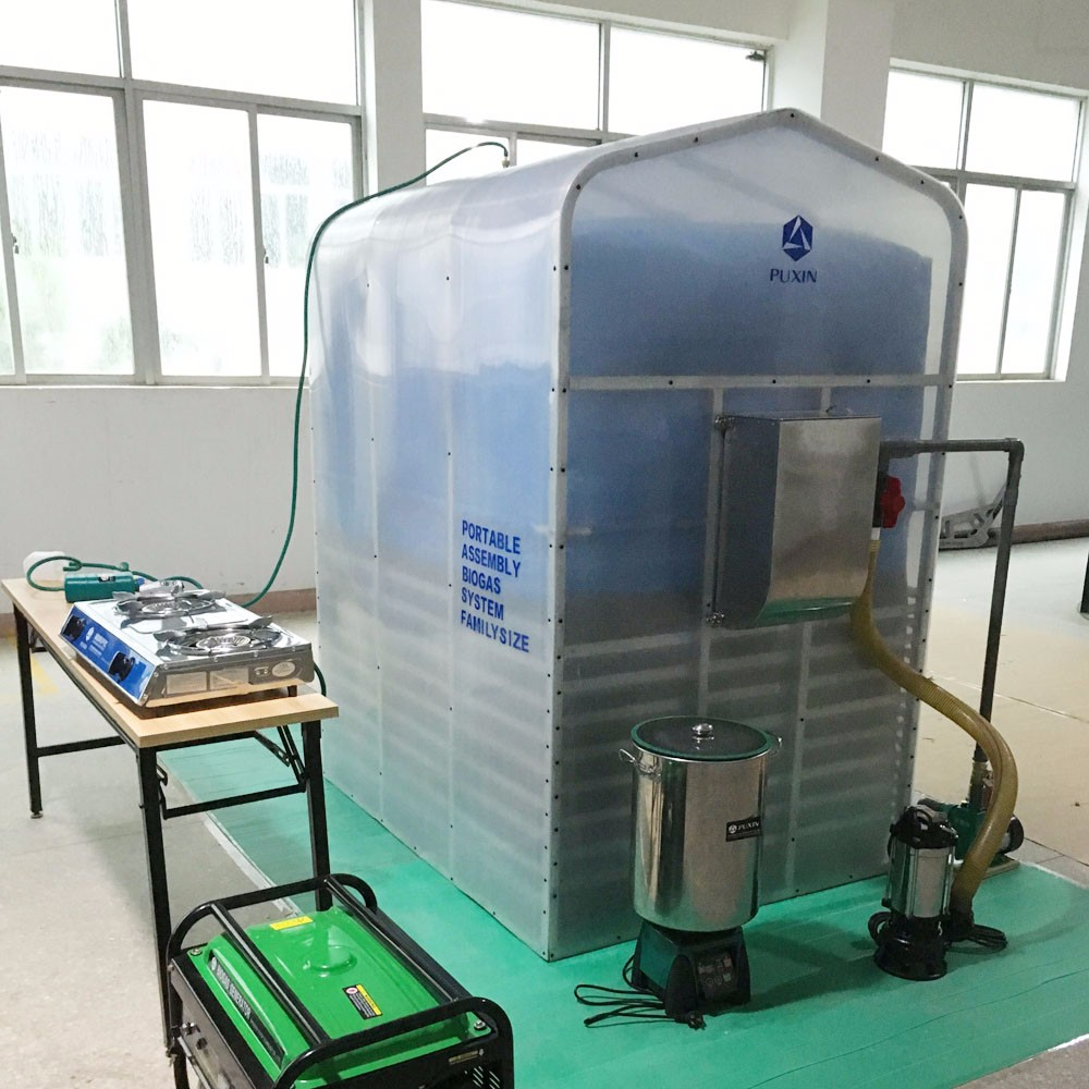 China Puxin Portable Assembled Soft PVC Biogas Plant to Get Biogas for Electricity