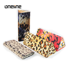 Excellent quality pretty protective leopard optical triangle foldable sunglasses case