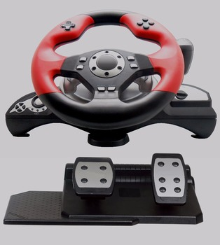 Multi-platform Video Game Steering Wheel For Pc /x-input /ps2 /ps3 - Buy  Game Controller Racing Wheel,Oem Package,Wired Usb Cable Or Wireless  Product