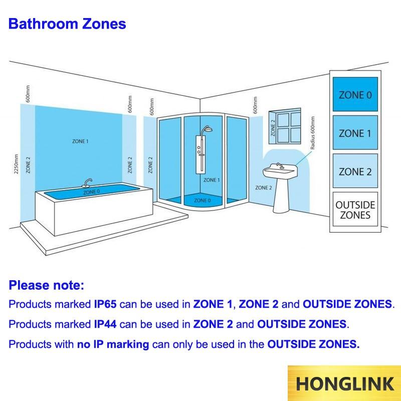 Bathroom Zone 1 gu10 fire rated recessed ceiling ip65 waterproof bathroom led