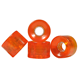 New design custom logo transparent orange 59mm wholesale skateboard wheels
