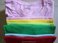 wholesale china cheap kids blank ring-spun cotton soft hand eco-friendly dying colorful t shirt