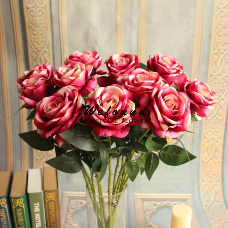 Wefound cheap wholesale artificial flowers artificial silk rose wefound cheap wholesale artificial flowers artificial silk rose flower for wedding decoration mightylinksfo