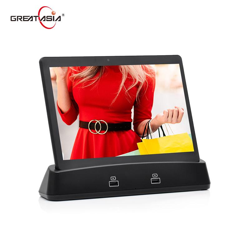 2020 yeni oem 10 inç android tablet restoran tab android 9.0 kablosuz şarj tablet yerleştirme istasyonu ile endüstriyel tablet bilgisayar
