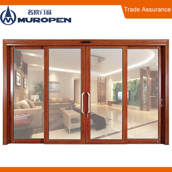 Aluminum solid merbau door dust protection wooden hard door