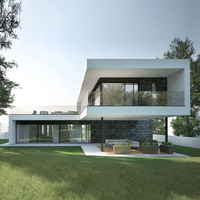 Luxury prefab villa , insulation light steel prefabricada casa