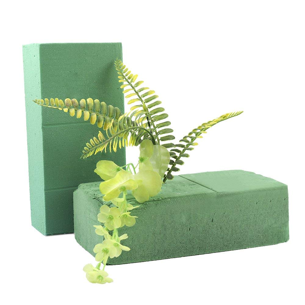 Mokylor Pack of 6 Dry Floral Foam Blocks, Florist Flower Styrofoam Green Bricks for Fresh Cut Floral Arrangements