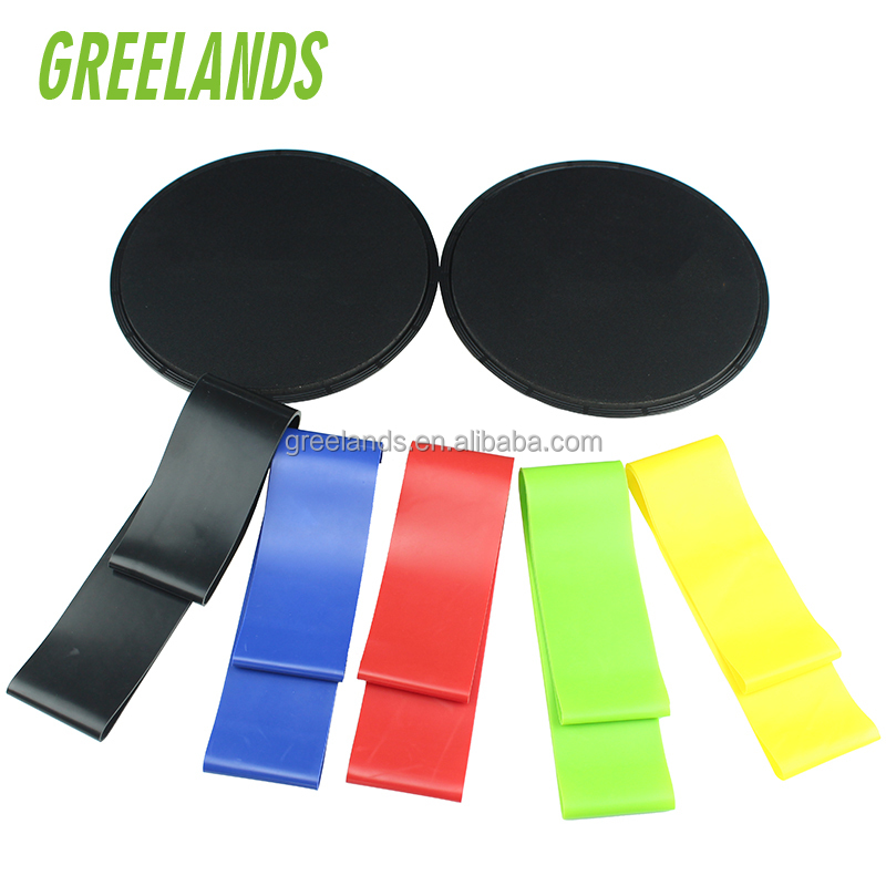 Gliding Discs + Exercise Loop Bands a Set with Carry Bag Lightweight Workout Equipment for Home Fitness Sliders