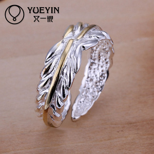 Cheap Hot sale color separation silver Ring