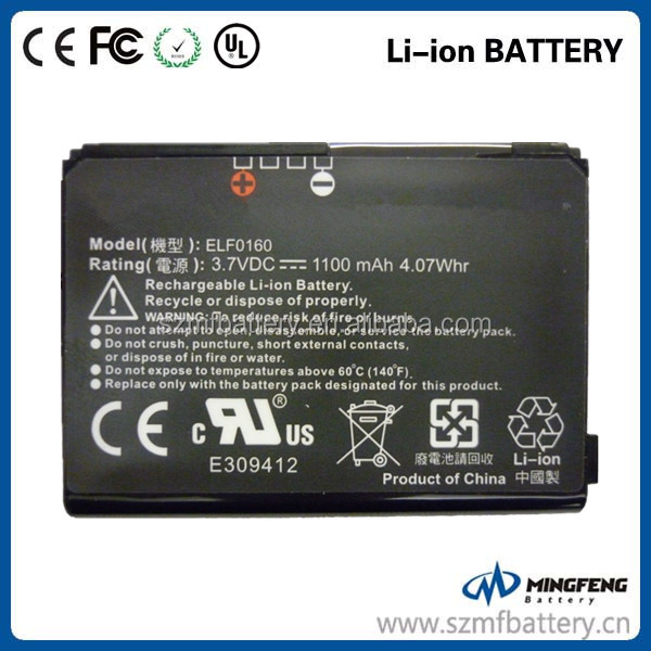 Mobile phone battery ELFO160 battery for HTC S1/S500/S505/P3450/P3452/XV6900
