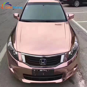 Best quality plating cheap cost metallic mirror reflective nice decoration  chrome vinyl wrap rose gold chrome car vinyl