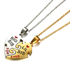 Sisters gift pendant necklace 2 piece half heart necklace for good friends