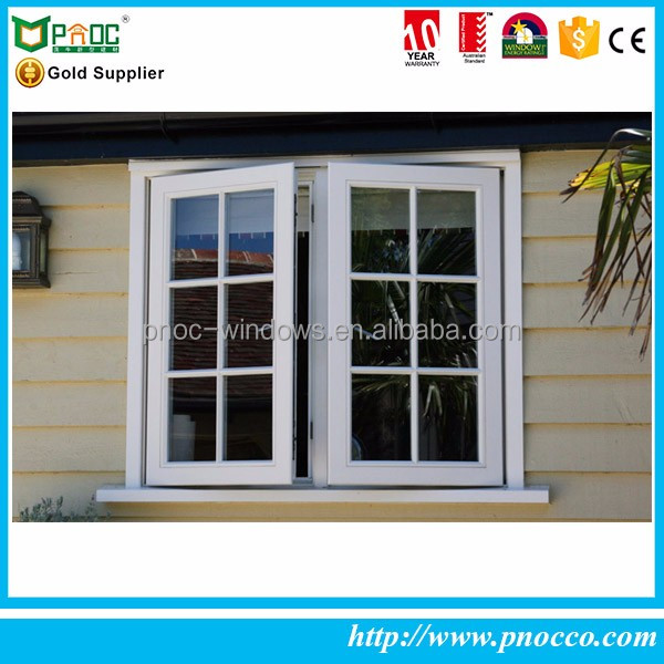 French style window with Crank and Grilled design casement window for residential