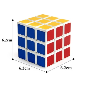 Whosale Funny Intelligence Toy Heat Transfer Third-order Magic Cube for Children