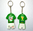 promotional football uniform logo 3D PVC keychain