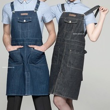 Chef Aprons for Men and Women, Cotton Denim Custom Cheap Aprons with Custom Logo