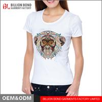 2017 OEM Custom logo Women's Basic T-Shirts 100% Cotton T shirt for Women