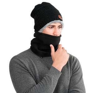d8a26970171 men women winter hats and scarf neck warmer fleece caps sets