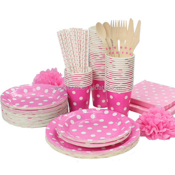 Party Supplies Disposable Dinnerware Set Party Decorations Set for Kids Birthday