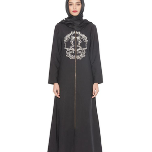A3497 Women Black Fancy Burka Burqa Embroidery Caftan ensemble abaya with diamond