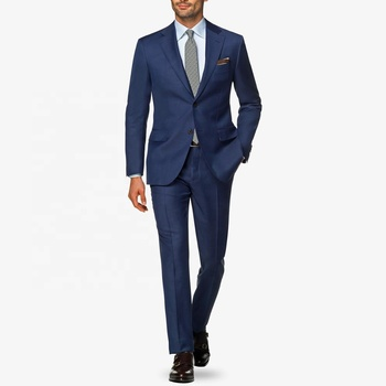 New style wool mix men's slim fit italian formal suit fabric custom made suit