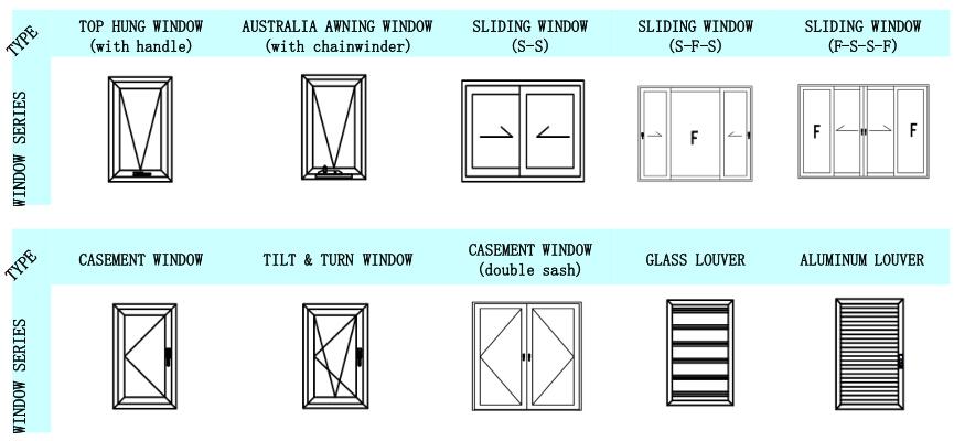 Aluminium Frame Tempered Glass Bifold Window Sliding