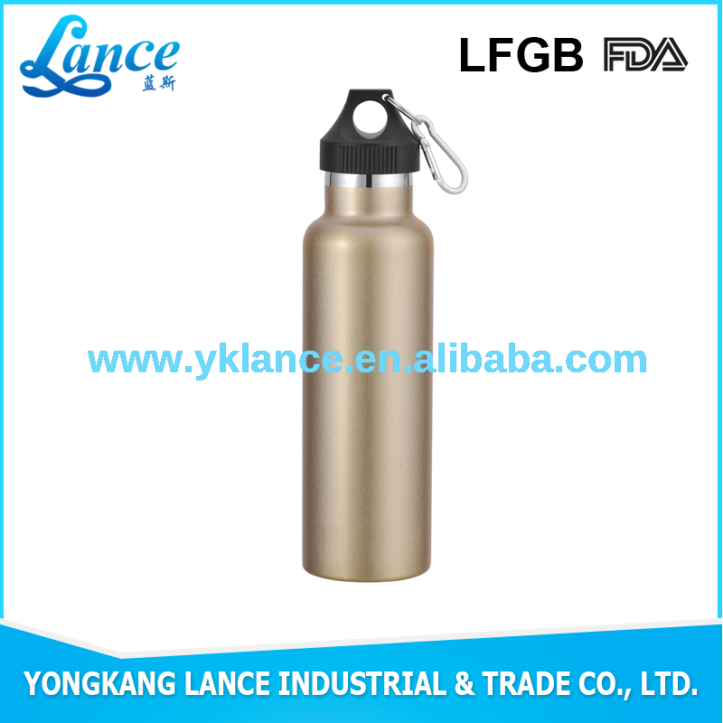 Fashinable 750ml golden thermal vacuum flask with stainless steel