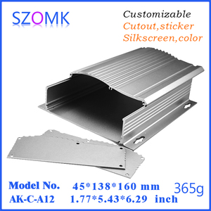 Customized extrusion aluminum metal project box for electronics