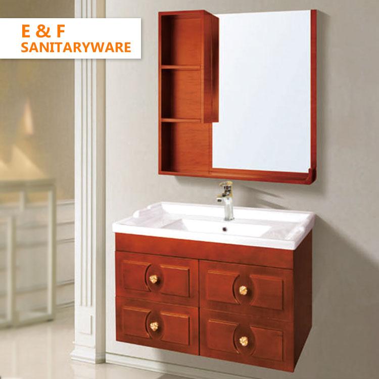 Oak Solid Wood Bathroom Vanity Cabinets