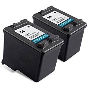 Printronic Remanufactured Ink Cartridge Replacement for HP 54 CB334AN (2 Black)