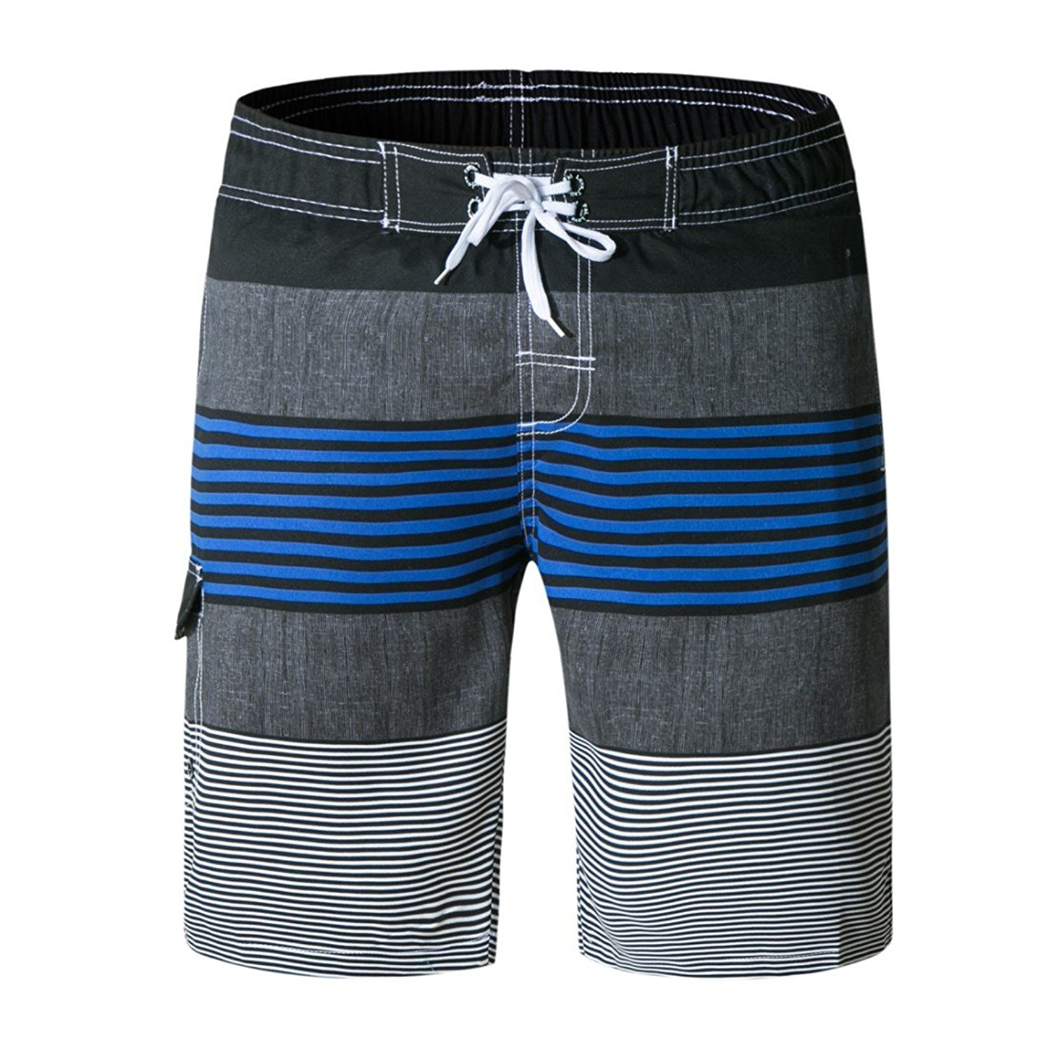 74ecfed5f1fdb Get Quotations · LJCCQ Men's Swim Trunks Stripe Board Shorts Long with Mesh Swim  Shorts Quick Dry Bathing Suits