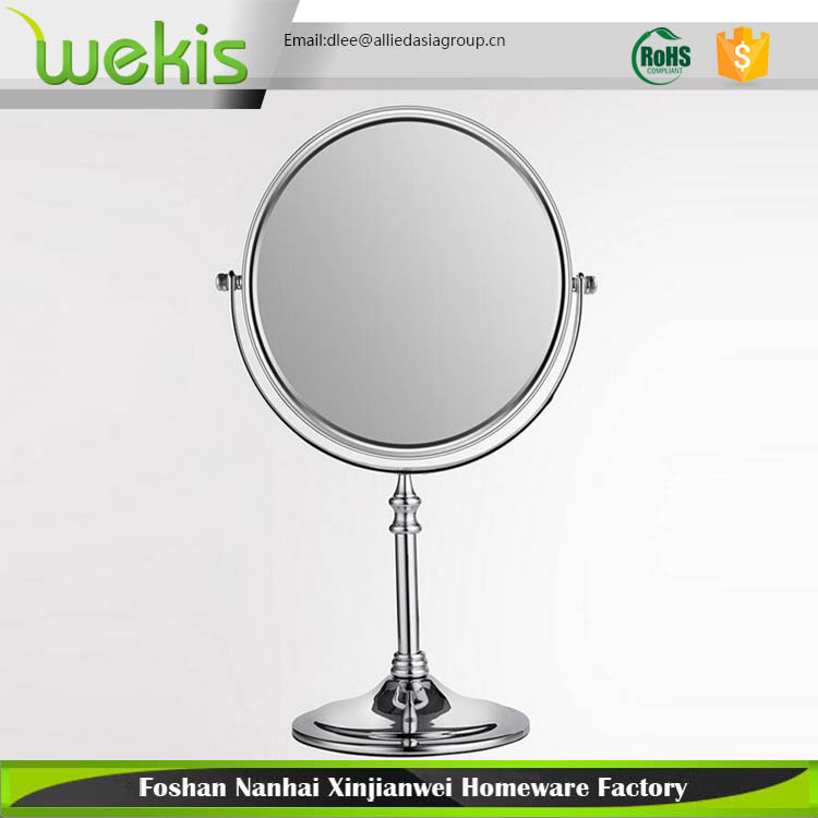 Desktop Bathroom Double Round Shape Sided Swivel Cosmetic Makeup Vanity Mirror