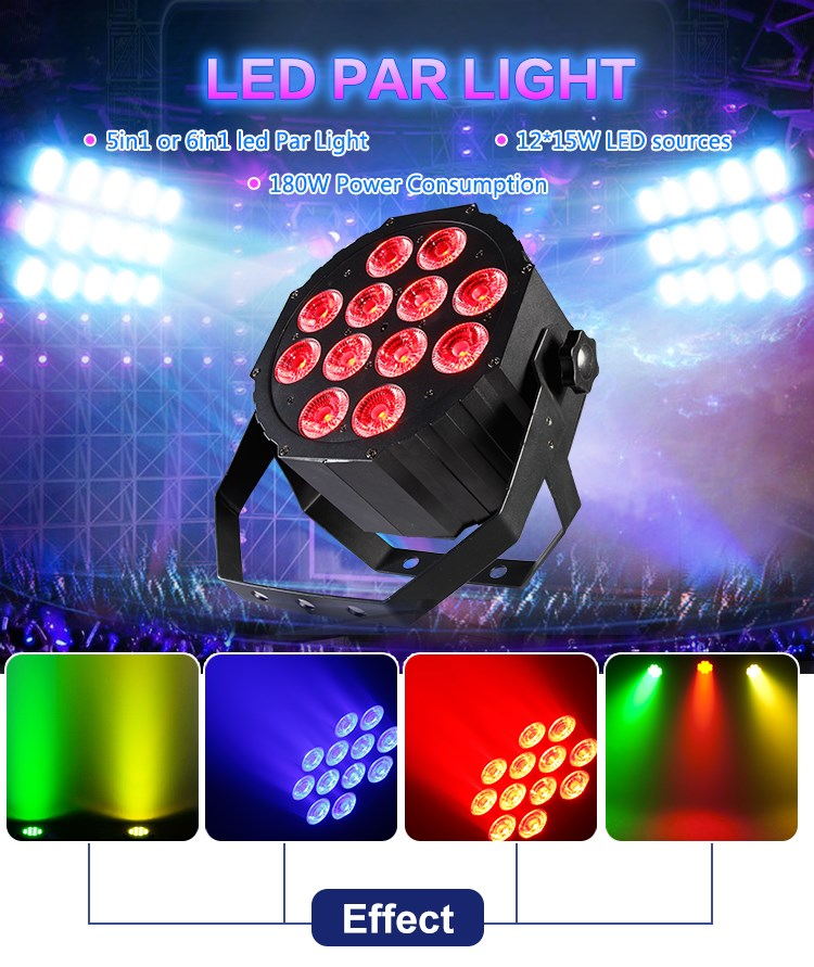 hot sale mini 12x15W rgbwa uv 6 in 1 par led can light