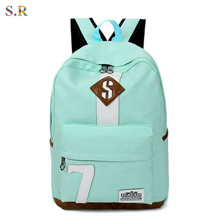 2015 Fashion 7 Colors Women Backpack Preppy Style Students School Bags For Teenagers Canvas Backpack Female CB162